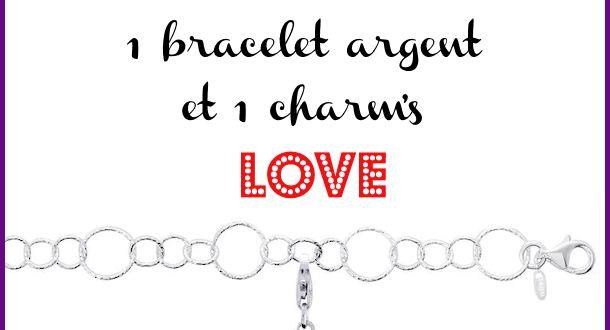 Be My Valentine #6 : un joli bracelet en argent et son charm coeur de chez Murat à gagner trop jolie