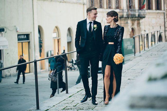 Love this untraditional Italian Bridal look