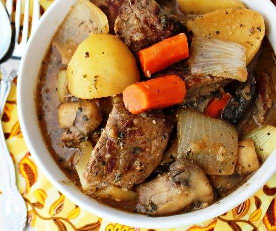 Картошка со свининой в мультиварке - простой рецепт