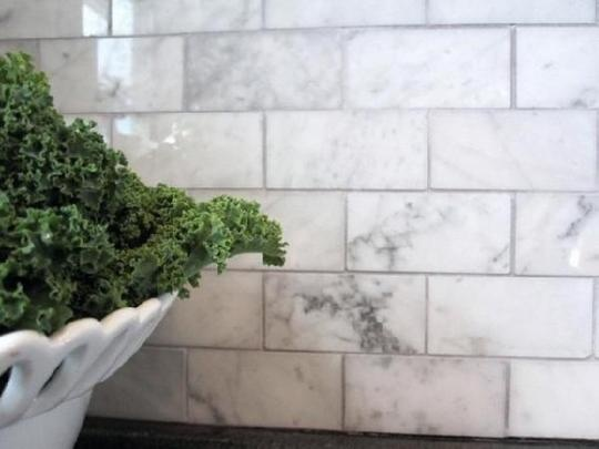 Marble subway tile