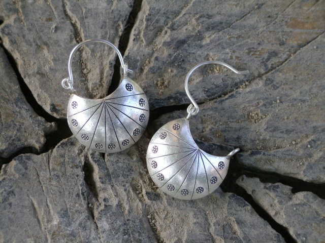Hilltribe silver earrings