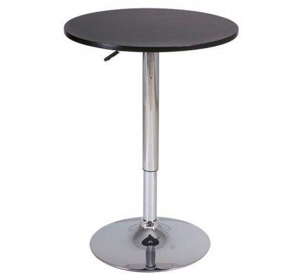 Mesa auxiliar Dakota  Dimensiones:  - diámetro: 60 cm.  - alto: 79-95 cm.  Mesa auxiliar con pie de metal cromado para despacho, comedor, o dormitorio. Ligera, adaptable y resistente.  http://www.mueblesbonitos.com/