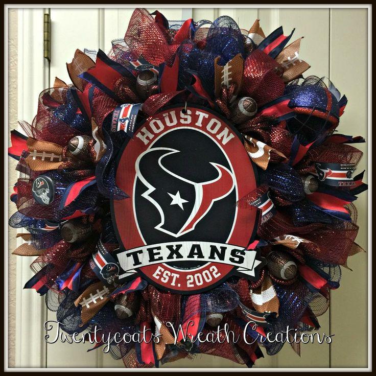 Deco mesh wreath by Twentycoats Wreath Creations (2016) Houston Texans