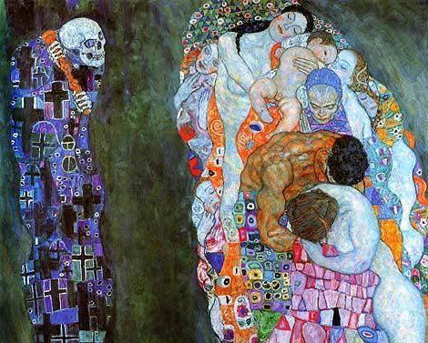 Gustav Klimt Death and Life 24 Inch Canvas Print