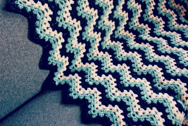 Crochet Ripple Afghan : Crochet Granny Ripple Afghan Crochet With A Little Knitting In The ...