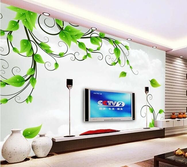 16.87$ Buy here - http://ali6l7.shopchina.info/go.php?t=32474447824 - 3d wallpaper custom mural non-woven Fresh green leafy vine, film and television TV setting paintings 3d wall murals wall paper 16.87$ #SHOPPING