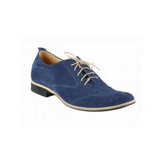 Pánske kožené topánky modré - fashionday.eu