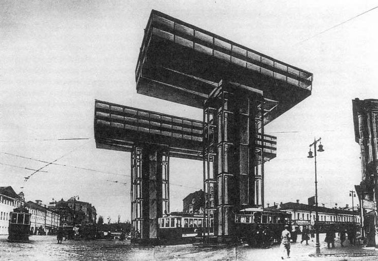 El Lissitzky's Wolkenbügel project in 1925, Moscow