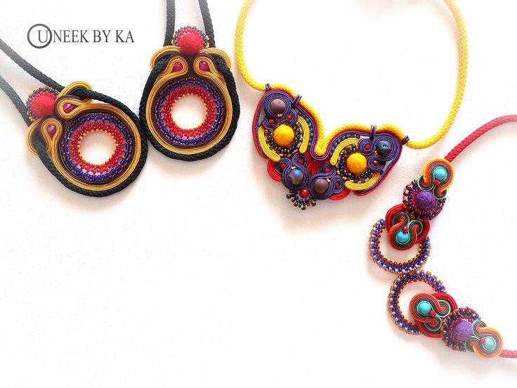 Soutache Necklaces at Uneek by KA