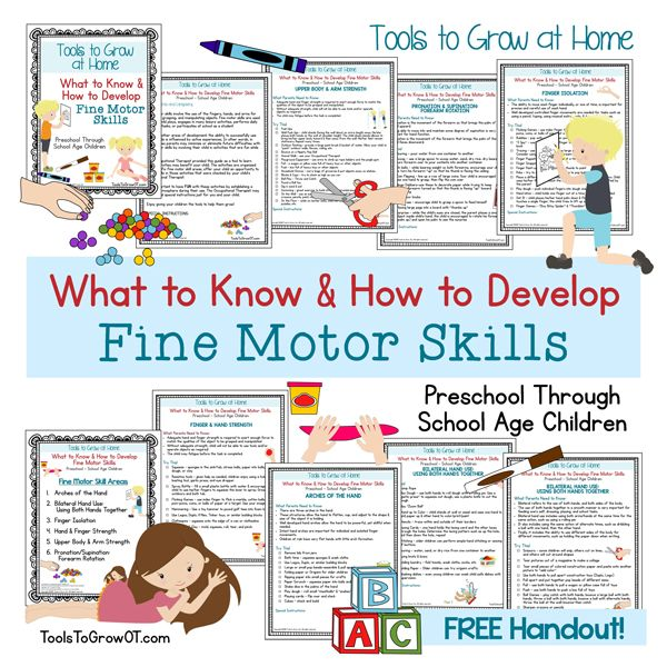 At home what to know how to develop fine motor skills for Motor skills child development