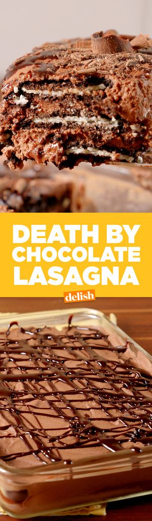Death By Chocolate Lasagna  - Delish.com