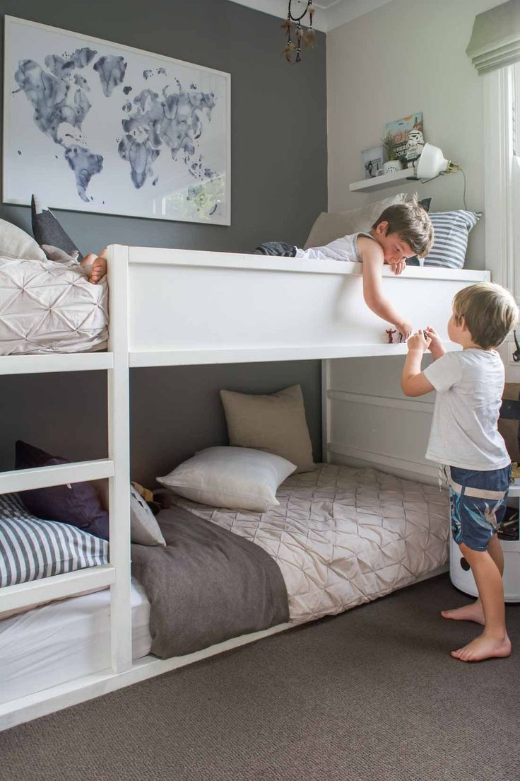 Space Saving Tips Kids In A Small Bedroom Dream Bedrooms Bunk Beds For Boys Room Bunk Bed Rooms Bunk Bed Designs