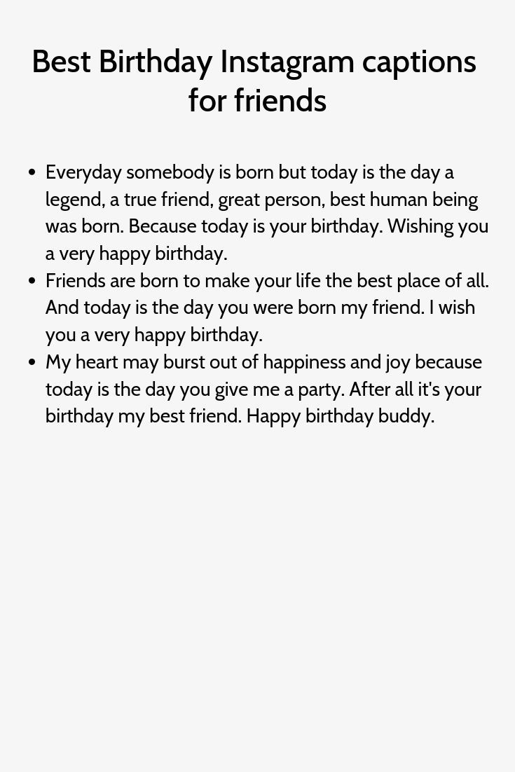 Best Birthday Instagram Captions For Friends Caption For Friends