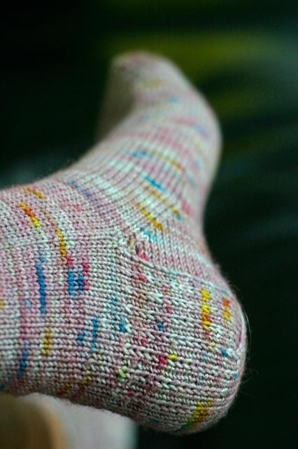 Vanilla Socks (for meeeee)    Yarn | Spunkyarn Serena sock  Colourway | Mauve Multi