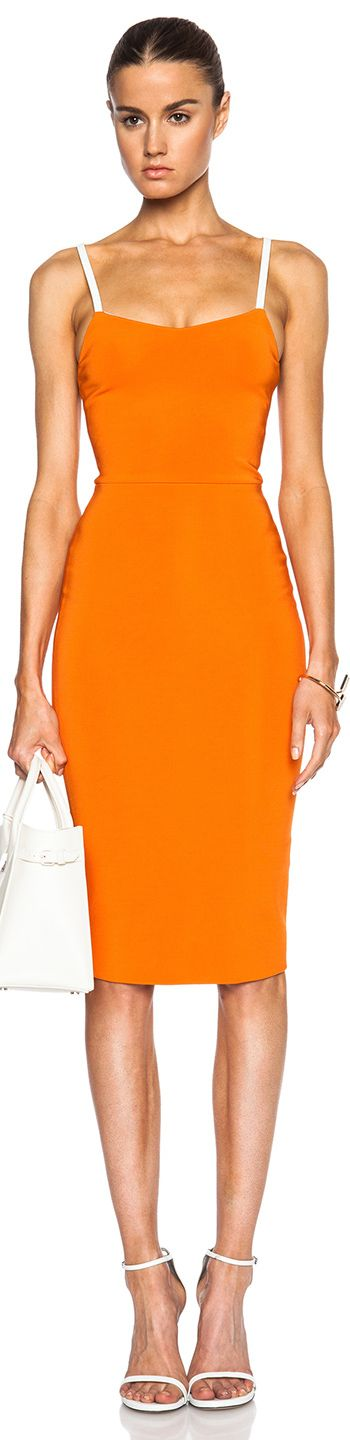 Victoria Beckham ~ Cross Back Cami Dress, Mandarin Orange, 2015