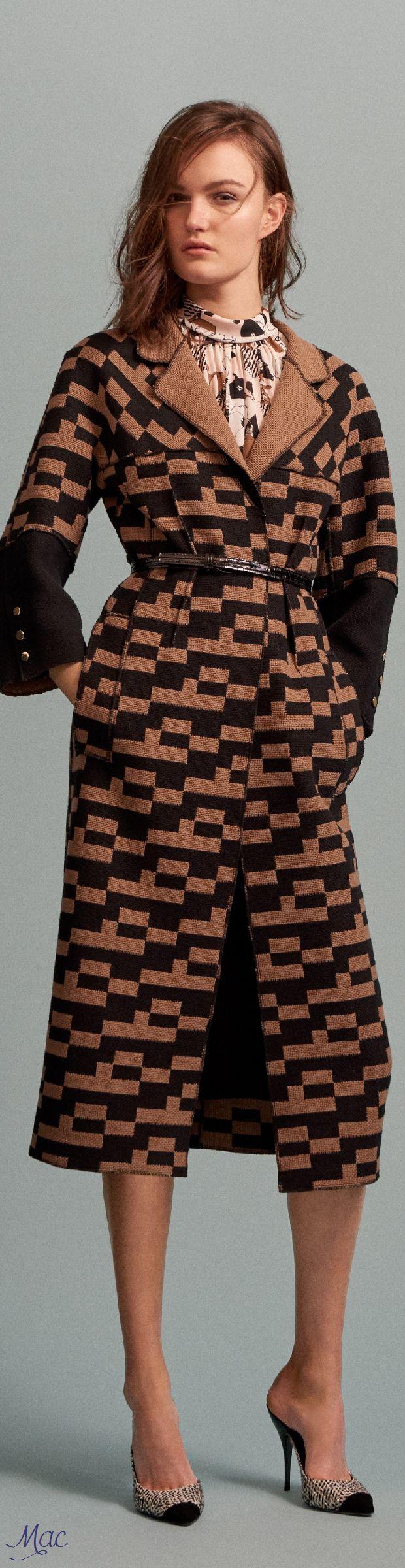 Pre-Fall 2016 Oscar de la Renta  women fashion outfit clothing style apparel @roressclothes closet ideas