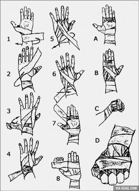 How to wrap your hands. If, you know, you're planning on beating down some fools @9gag