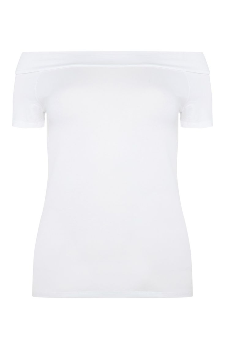 Primark - White Bardot Top