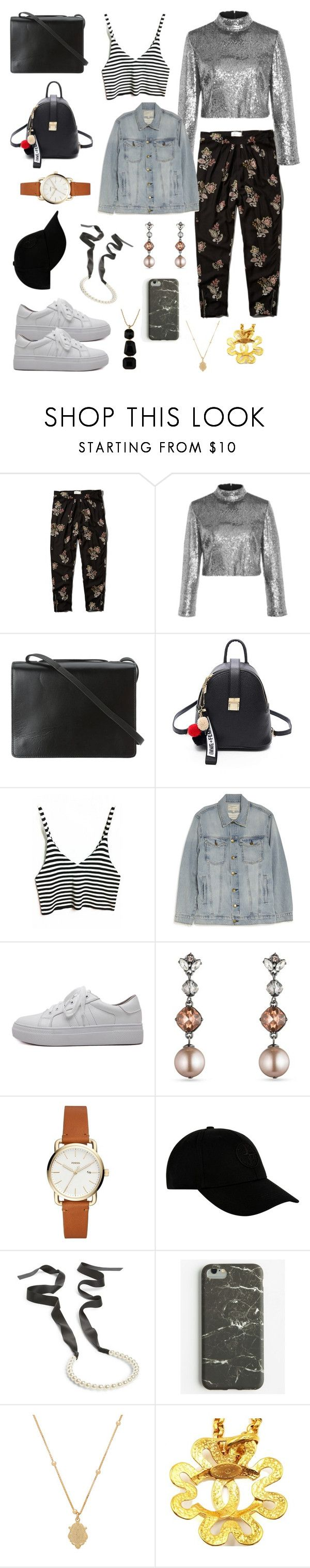 """""""Untitled #1190"""" by lexi-riney ❤ liked on Polyvore featuring Abercrombie & Fitch, A.L.C., BCBGMAXAZRIA, Current/Elliott, Carolee, STONE ISLAND, Cara, Ankit, Joolz by Martha Calvo and Chanel"""