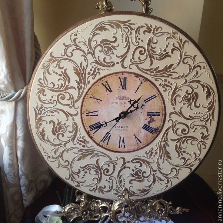 Купить Настенные часы Вальс Французская ваниль - бежевый, часы, часы настенные, часы интерьерные
