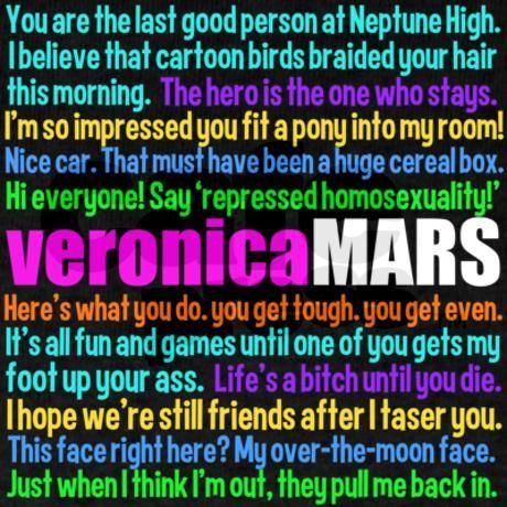 Veronica Mars Quotes T-Shirt on CafePress.com