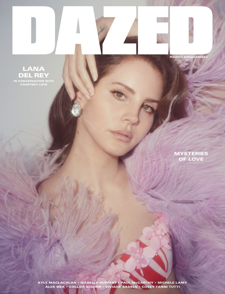 """Is this the mysterious Lana Del Rey?"" Courtney Love joins Lana Del Rey in conversation for the spring/summer issue of Dazed, out worldwide from April 20th Photography: Charlotte Wales Styling: Robbie Spencer Text: Natasha Stagg"