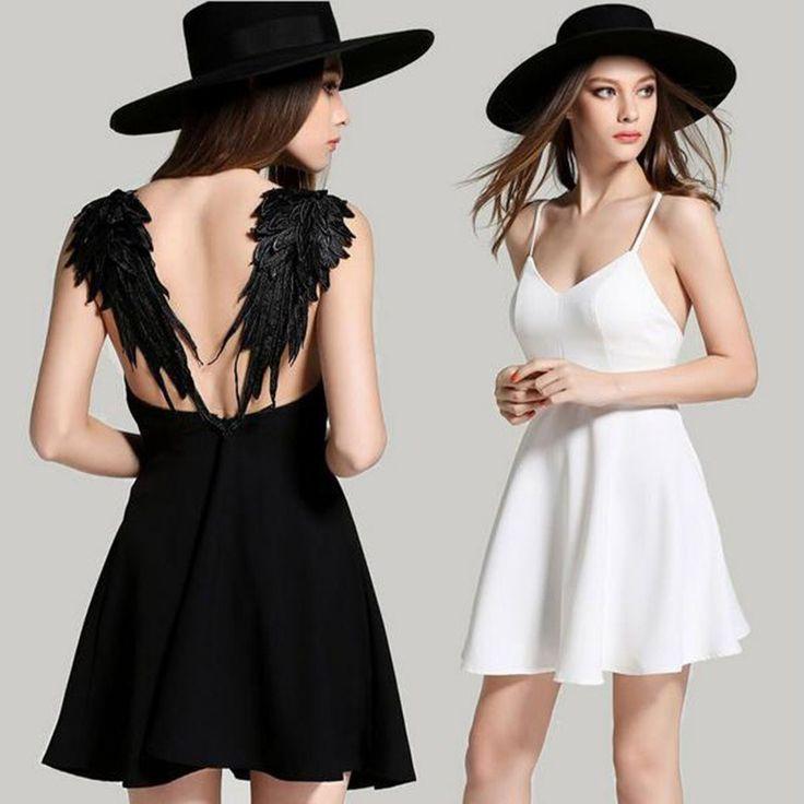 Wings Back Angel Dress