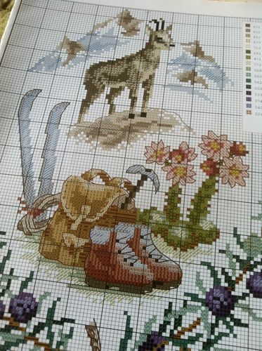 Lot Charts French Cross Stitch from Magazines Mountain Samplers | eBay