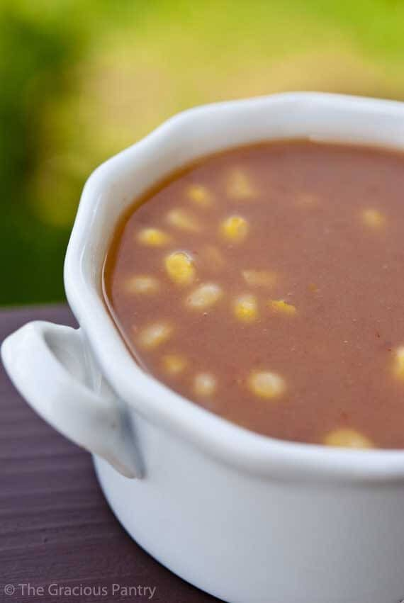 Clean Eating Refried Bean Soup ~ http://www.thegraciouspantry.com
