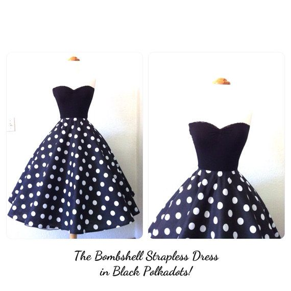 Hey, I found this really awesome Etsy listing at https://www.etsy.com/listing/192810570/the-bombshell-strapless-50s-style-party