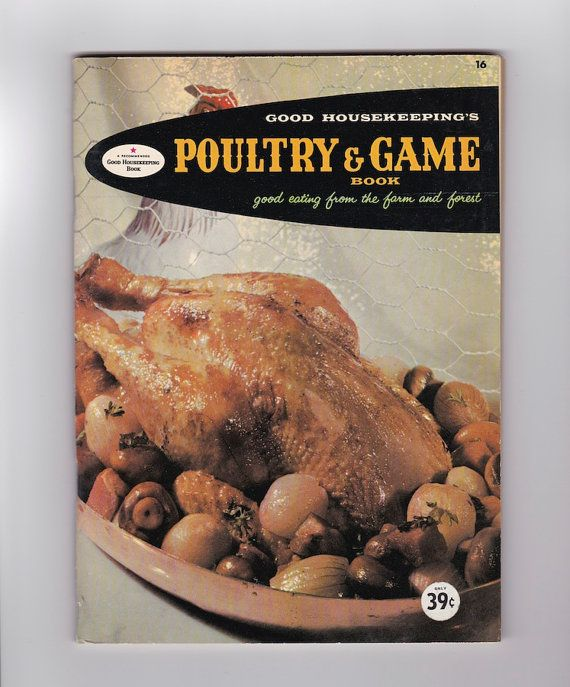 1950s Poultry and Game Book Good Housekeeping, midcentury vintage cookbook, Thanksgiving, AnemoneReadsVintage on Etsy