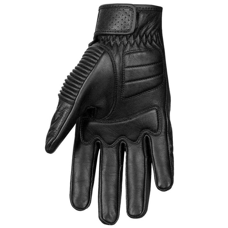 Highway 21 trigger leather mens motorcycle gloves with