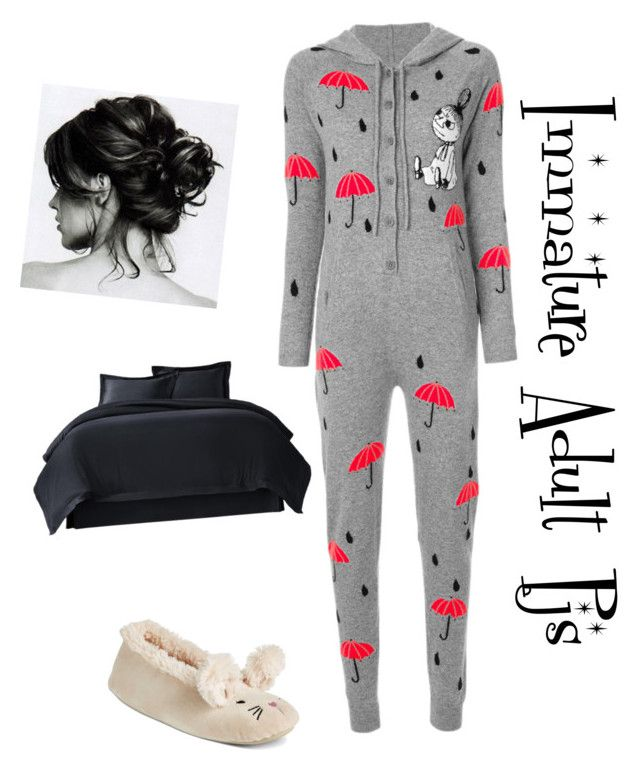 """""""Immature Adult Pjs"""" by lazygirlscloset ❤ liked on Polyvore featuring Chinti and Parker and PJ Couture"""