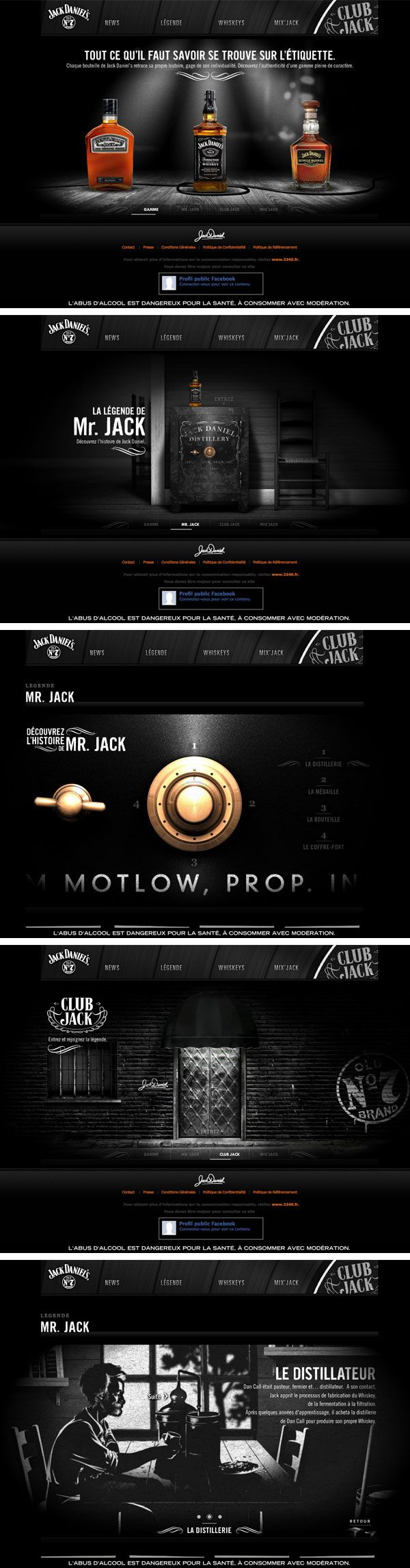 Black is featured prominently on this website and it's not easy to do... Well done Jack Daniels!  www.IsadoraDesign.com Creative Web Design Agency