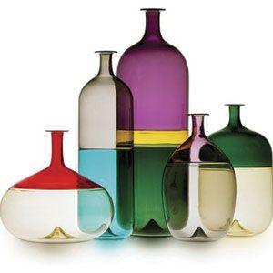 Finnish designer Tapio Wirkkala (1915-1985) designed the Bolle series of vases for renowned art glass studio Venini & C. Glass in Murano, Italy in 1967.