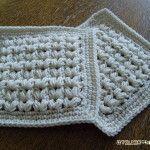 【編み図】玉編みのコースター