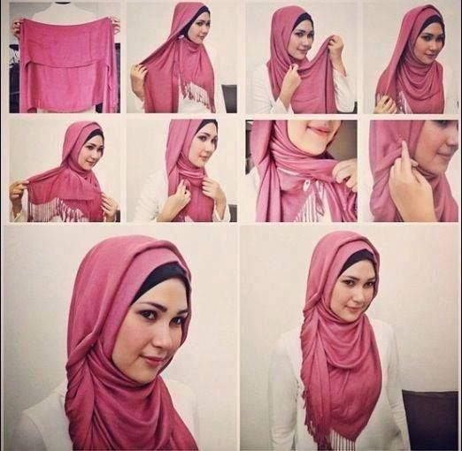 cute and not too complicated hijab tutorial