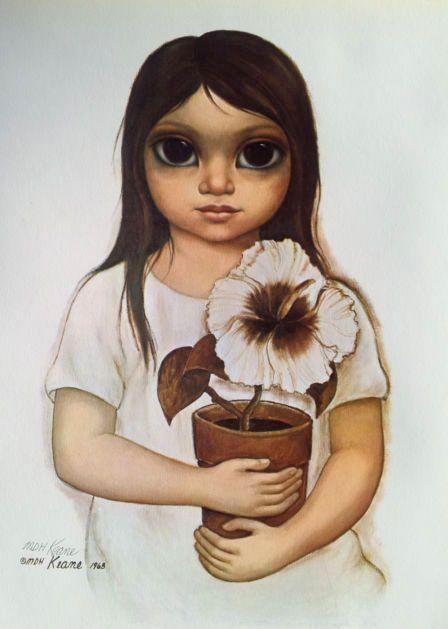 """""""Hibiscus Miss"""" ~ Margaret Keane, 1968"""