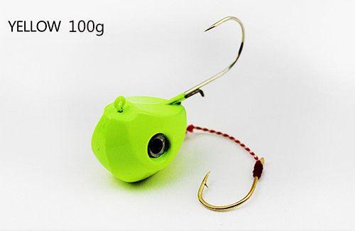 Sea fishing 3pcs/lot Lead fishing bait with double hooks 3colors 40g/60g//80g/100g/pc 5pcs/pack Fishing jig head fishing tackle