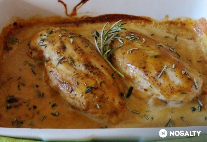 Sütőben sült mustáros csirkemell