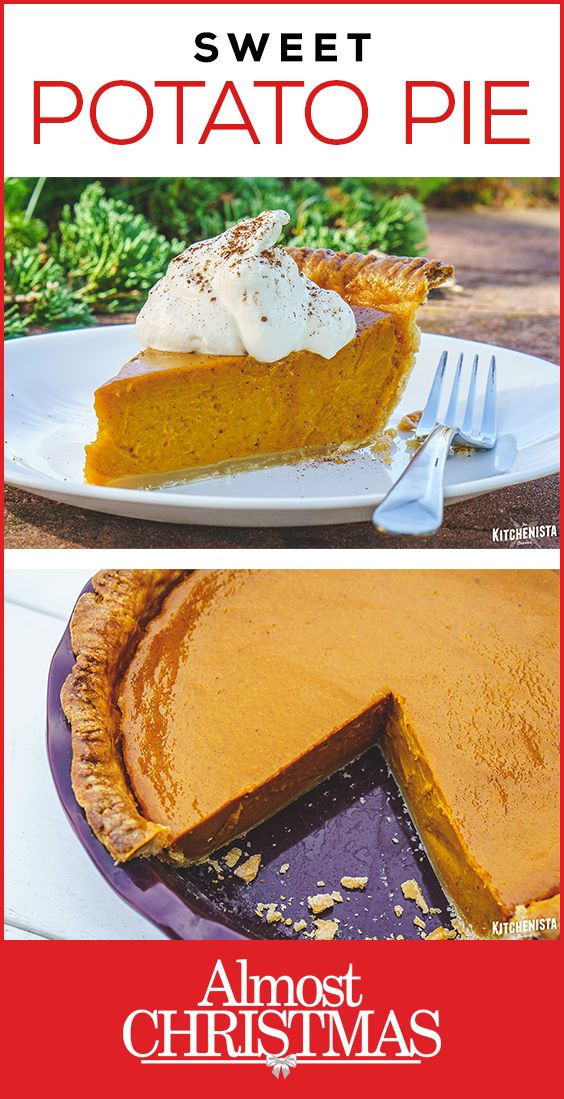 Step by step recipe tutorial to make a Deep Dish Sweet Potato Pie. #sponsored #ad #AlmostChristmas