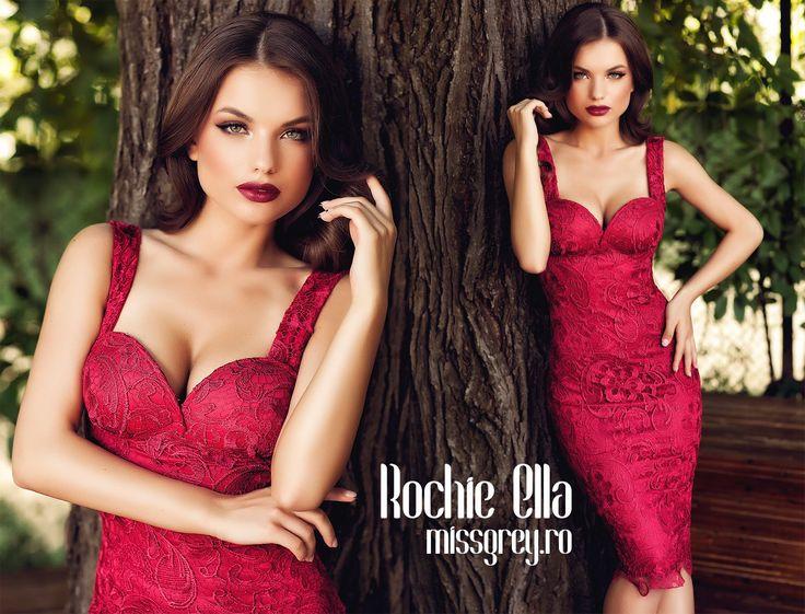 Burgundy lace dress available now on our website: https://missgrey.ro/ro/produse-noi/rochie-ella-bordo/340?utm_campaign=colectie_iunie1&utm_medium=ella_bordo&utm_source=pinterest_produs