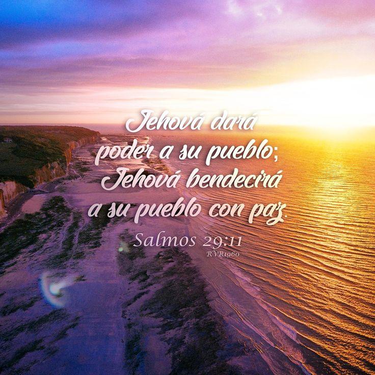 Jehová dará poder a su pueblo; Jehová bendecirá a su pueblo con paz.  Salmos 29:11 RVR1960