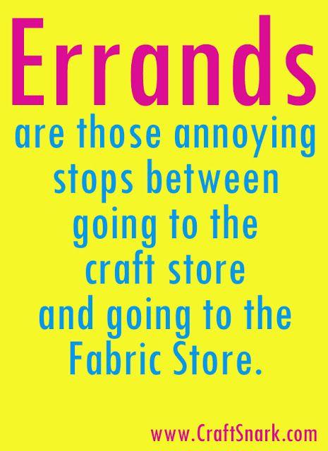Craft Snark: Craft Definition: Errands