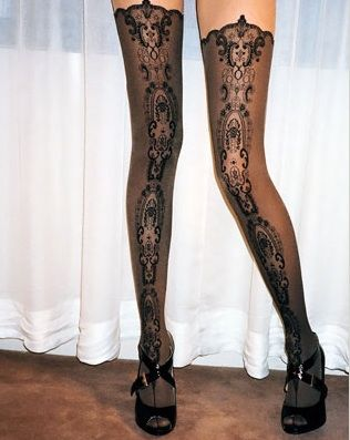wolford: Stockings, Black Lace, Sexy, Wolford Medallions, Medallions Tights, Fashion Style, Clothing, Thighs High, Legs
