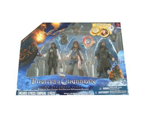 Pirates of the Caribbean On Stranger Tides 3Pack Angelica Jack Sparrow Blackbeard @ niftywarehouse.com #NiftyWarehouse #PiratesOfTheCarribbean #Pirates #Movies #Pirate