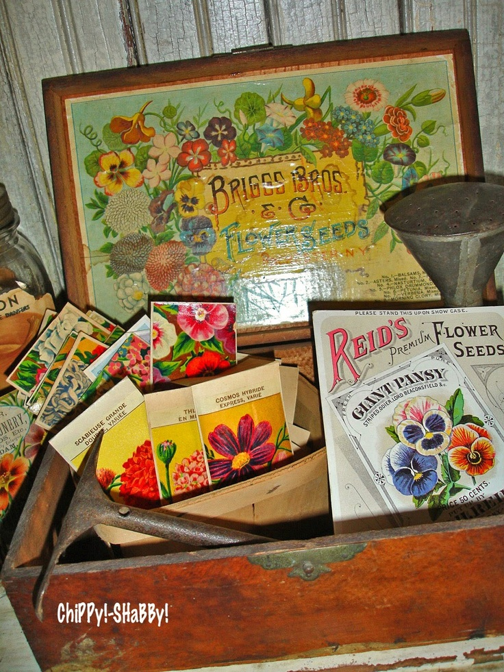 17 Best 1000 images about Vintage Seed Boxes on Pinterest Advertising