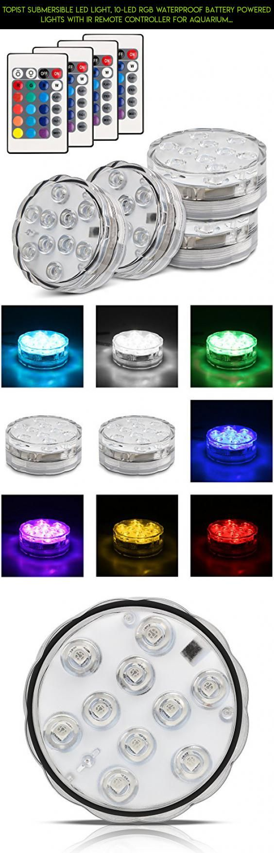 Cavalier round led illuminated bathroom mirror battery powered ebay - Topist Submersible Led Light 10 Led Rgb Waterproof Battery Powered Lights With Ir Remote