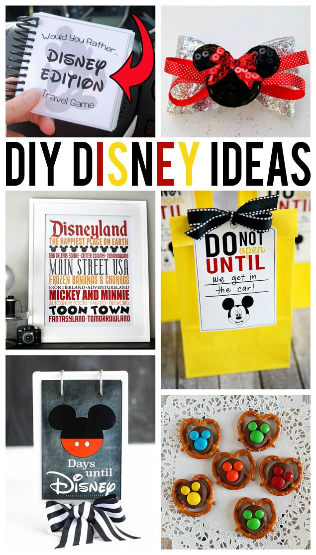 DIY disney ideas. Printables, hair accessories, and more!
