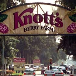Knott's Berry Farm IT LITERALLY STARTED AS A FRUIT STAND..IT WAS FREE TO GET IN UNTIL I WAS 25..OUR FAMILY USE TO GO SEVERAL TIMES A YEAR, THEIR CHICKEN DINNER WAS FANTASTIC..CHICKEN, MASHED POTATOES, CABBAGE, BISCUITS AND BOYNSENBERRY PIE...ENJOYED IT A FEW  YEARS AGO...IT'S STILL THE SAME: DELICIOUS!